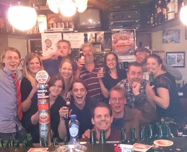 CAFE DE STAM - Het Team op bezoek bij collega Jolke in Terwispel