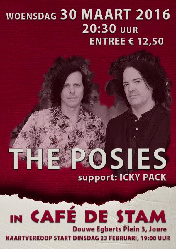 2016-0330 Café de Stam - Poster The Posies - Digitale Aankondiging