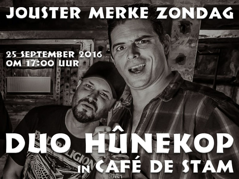 Zondag 25 september, Duo Hûnekop in Café de Stam Joure