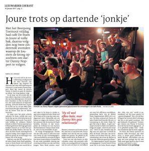 Leeuwarder Courant - Joure Trots op Dartende jonkje FOTO NIELS DE VRIES