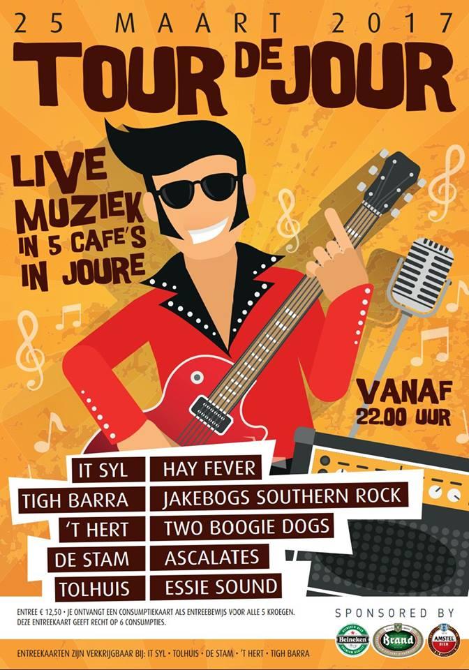 Kroegentocht Tour de Jour, 25 maart 2017 - Café de Stam, Joure