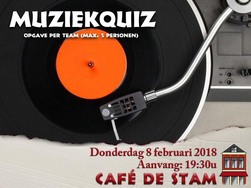 2018-0208 CAFE DE STAM - Muziekquiz