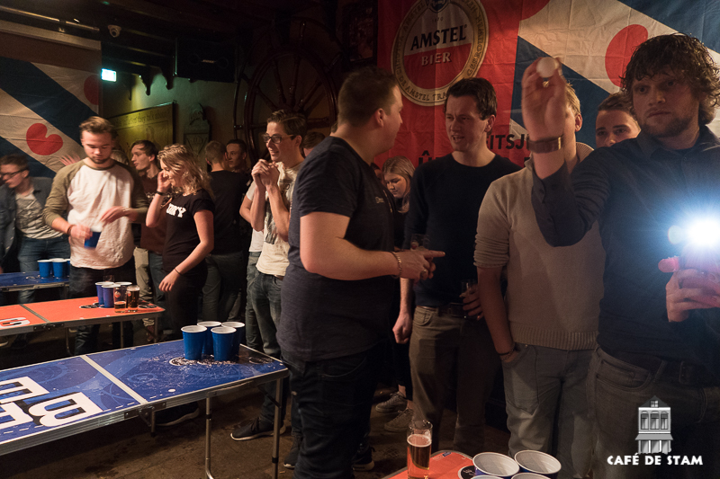 13 januari 2017 - Het Amstel Beerpong Toernooi, Café de Stam Joure